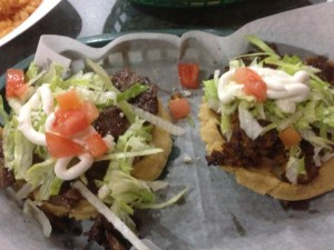 Authentic Mexican Sopes @ Si Senor