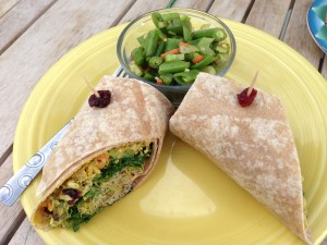 Chicken Salad Wrap @ Delicomb Breakfast and Lunch Place at the Beaches