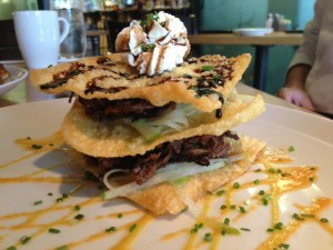Duck Wonton Napoleon at BBs
